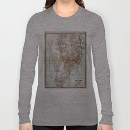 Vintage Map of Halifax Nova Scotia (1890) Long Sleeve T-shirt