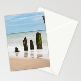 Groynes on the Baltic Sea coast Stationery Cards