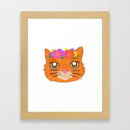 Frida Cat Framed Art Print