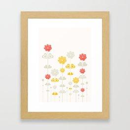 I heart flowers Framed Art Print