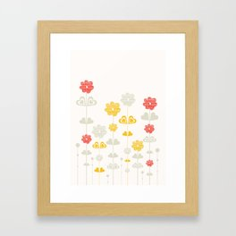 I heart flowers Framed Art Print