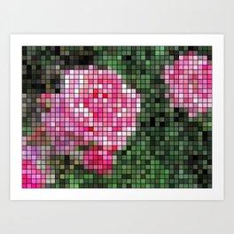 Pink Roses in Anzures 1 Mosaic Art Print