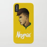 neymar iPhone & iPod Cases featuring Neymar Brazil by Dave Flanagan