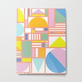 Pastel Bauhaus Metal Print