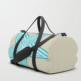 Geometric Blue Star Art Deco Duffle Bag