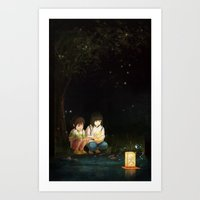 spirited away Art Prints featuring Spirited Away by Jessica P.
