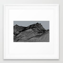 topography of death 1 Framed Art Print