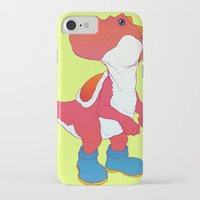 yoshi iPhone & iPod Cases featuring Yoshi Red by bloozen