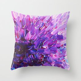LOTUS BLOSSUM - Beautiful Purple Floral Abstract, Modern Decor in Eggplant Plum Lavender Lilac Throw Pillow
