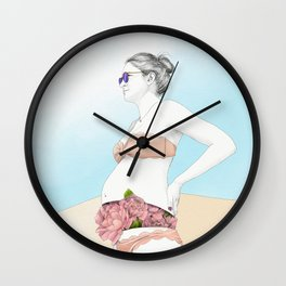 Ale at the Beach Wall Clock