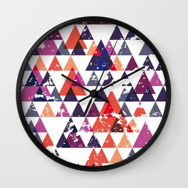 pattern traingle Wall Clock