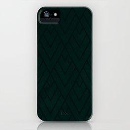 Green Deco Grunge 001 iPhone Case