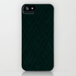 Green Deco Grunge 001 iPhone Case