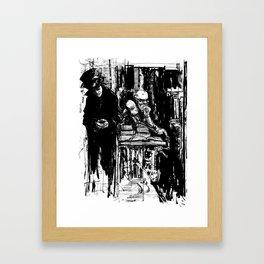 Battery Man Framed Art Print