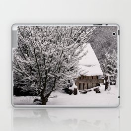 OLD SHED IN SNOW Laptop & iPad Skin