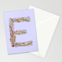Leafy Letter E Stationery Cards