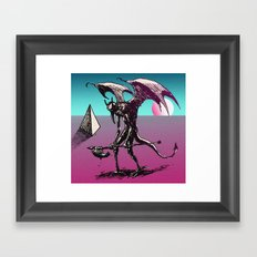 sunset on the astral plane Framed Art Print