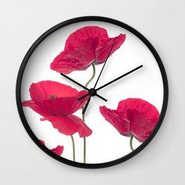 Sensual Poppies Wall Clock