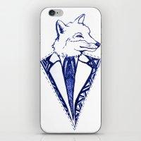 mr fox iPhone & iPod Skins featuring MR. FOX by Sagara Hirsch