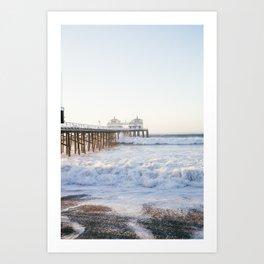 Malibu Pier - Hurricane Marie 2014 Art Print