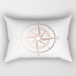 Rose Gold Compass Rectangular Pillow