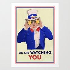 NSA Prism Art Print