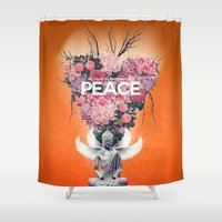 peace Shower Curtains featuring Peace by Eleaxart