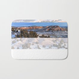 Wintery Wyoming Red-bed  Bath Mat