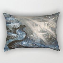 Spray Paint Waterfall Road to the Cross Rectangular Pillow