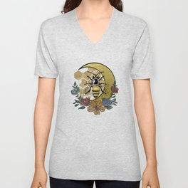 Bee night Unisex V-Neck