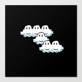 Super Mario Clouds Canvas Print
