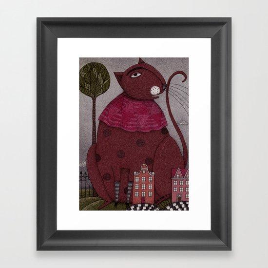 It's a Cat! Framed Art Print
