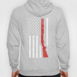 American Flag & Shotgun   Skeet Shooting Hoody