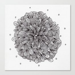 Liquid Zentangle-ing Canvas Print