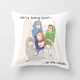 We are looking down on the clouds Throw Pillow