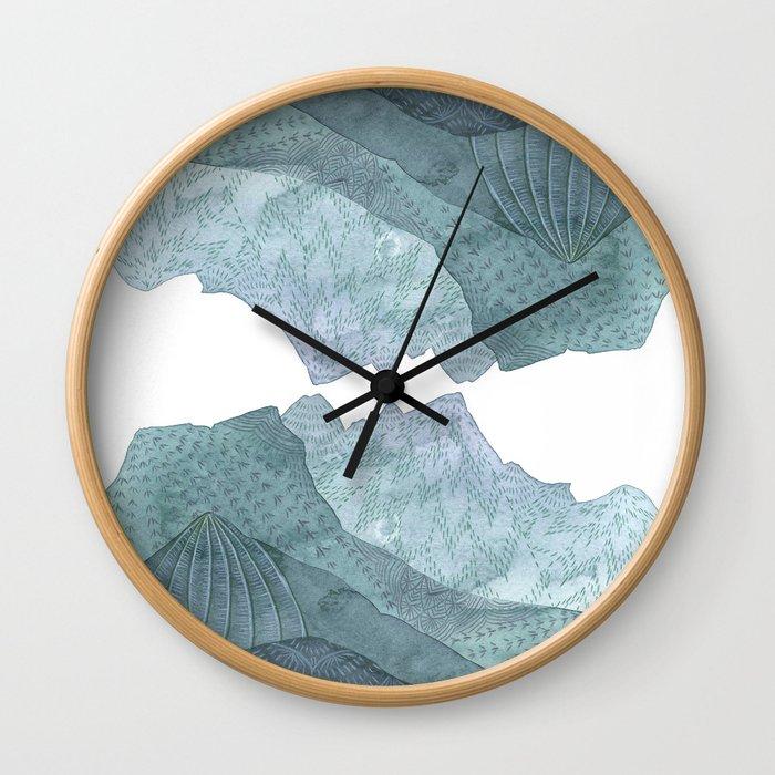 The world was fair, the mountains tall Wall Clock
