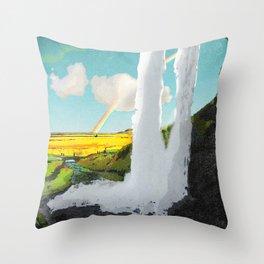 Iceland: Seljalandsfoss Waterfall Throw Pillow