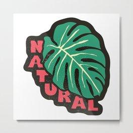 Natural, white  Metal Print