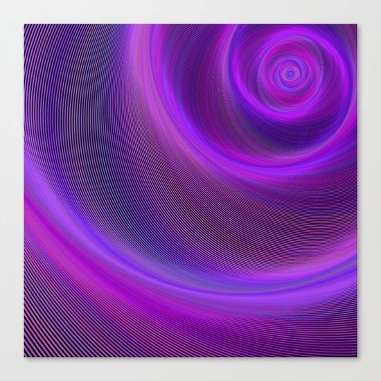 Purple night storm Canvas Print