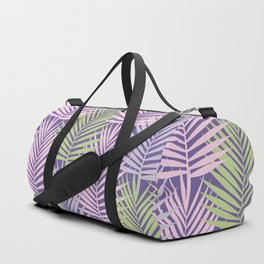 Ultra violet tropical palm leaves seamless pattern. Duffle Bag