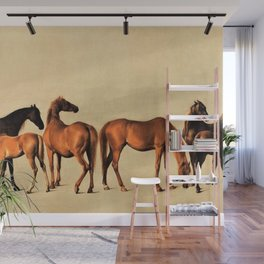Classical Master Piece Circa 1762  Rockingham Mares and Foals by George Stubbs Wall Mural
