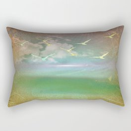 Day At The Beach Abstract Rectangular Pillow
