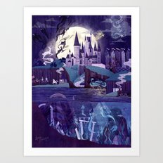 Never a Quiet Year at Hogwarts Art Print