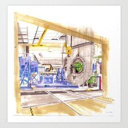 Turbine testing  Art Print