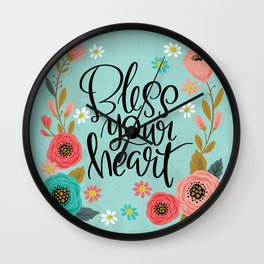 Pretty Not-So-Swe*ry: Bless Your Heart Wall Clock