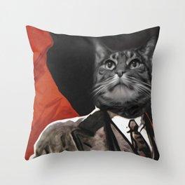 Soviet Cat Throw Pillow