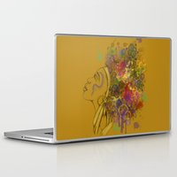 afro Laptop & iPad Skins featuring Afro by KiraTheArtist