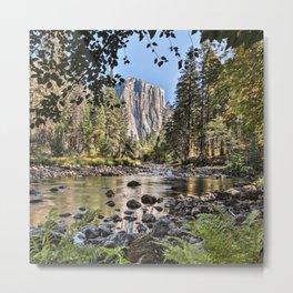 El Capitan Fall Colors And Merced River 10-20-18  Metal Print