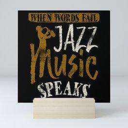 Jazz Saxophone Mini Art Print