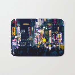 Neon Signs in Tokyo, Japan / Night City Series Bath Mat